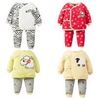 婴儿童内衣套装0-1岁3个月女宝宝新生儿衣服冬季冬装春秋衣服睡衣