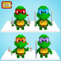 儿童小颗粒为微钻石积木 忍者神龟 塑料益智组装拼插玩具