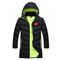 AOTU运动大衣中长款男女棉大衣国家队训练棉大衣篮球大衣冬季训练棉袄 X