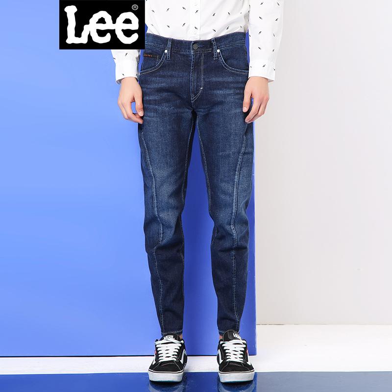 Lee男装 商场同款2017秋冬中低腰水洗九分牛仔裤男LMZ755H464KY