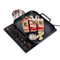 电磁炉烤盘韩式铁板烧烤肉盘牛排煤气芝士排骨无烟家用韩国不粘锅