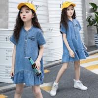 女童连衣裙夏季2019新款中大儿童洋气牛仔裙韩版时尚薄款公主裙子