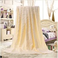 双人纯棉毛巾被 加大加厚单人线毯全棉空调被毛毯加大夏凉被 米白色 欧雅米白色