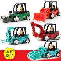 儿童玩具工程车玩具挖掘机压路机宝宝迷你惯性小汽车惯性工程车
