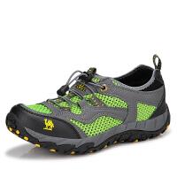 男鞋夏季透气鞋 男士网布懒人套脚鞋网面户外登山鞋