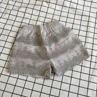 女童短裤 女童女宝宝夏季新款蕾丝短裤纯棉高档刺绣软纱短裤