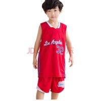快船篮球队32号格里芬运动休闲篮球服背心短裤宝宝篮球衣 红色