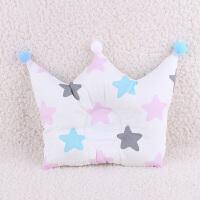 宝宝枕头0-1-3岁婴儿防偏头定型枕新生儿用品彩棉荞麦枕春秋 乳白色 彩色大星星皇冠枕