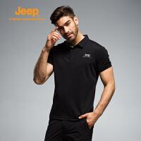 【特惠价】Jeep/吉普 男士夏季休闲速干透气排汗短袖T恤翻领polo衫