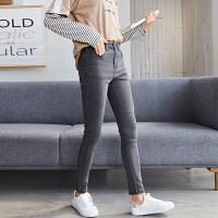 【1折价39.9元】唐狮牛仔裤女长裤秋新款小脚显瘦高腰铅笔裤
