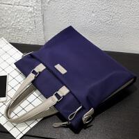 男包手提包男士包包商务横款休闲韩版牛津布单肩斜挎包公文包背包