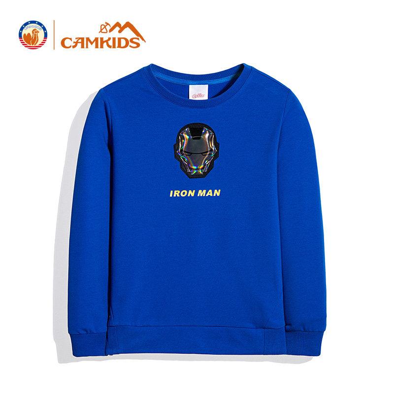 CAMKIDS童装男童卫衣2018春季新款儿童中小童长袖上衣套头衫