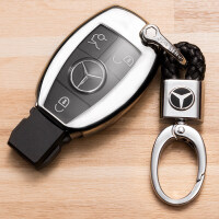 2018款奔驰钥匙包c200l gla200 glc260钥匙壳gle320 c级钥匙套扣