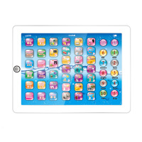 儿童触摸平板学习机婴幼儿语音中英文ipad点读机玩具 白色平板