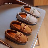 儿童豆豆鞋百搭男女童一脚蹬休闲鞋软底鞋