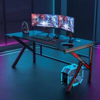 【1件3折 领券】环保耐磨台式电脑桌单板桌 家用床边办公学习书桌带书柜简易写字台