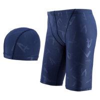泳裤男士五分游泳裤平角大码沙滩潮时尚男泳衣温泉泳帽套装