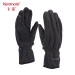 卡蒙短款触屏手套女冬天骑车保暖防风加绒手套麂皮绒防滑骑行手套 2833