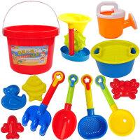 儿童沙滩玩具玩沙挖沙漏桶大号铲子决明子工具洗澡车套装宝宝