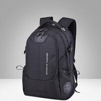 瑞士军刀双肩包男士商务电脑包旅行大容量瑞士背包休闲潮学生书包