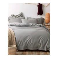 春夏季简约纯色天丝棉麻四件套素色被套床单1.5米1.8m床上用品