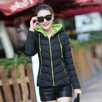 韩版棉衣女短款修身显瘦百搭学生加厚保暖冬季小棉袄外套 M 95斤以下