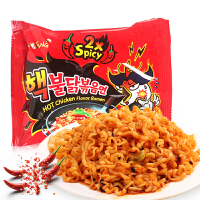 韩国进口方便面三养倍辣火鸡面140g 两倍超辣度凉拌面煮拉面泡面