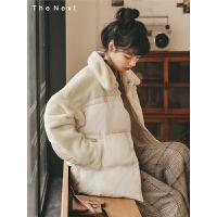 毛毛领短款棉衣2019冬季新款女韩版宽松学生百搭复古洋气外套