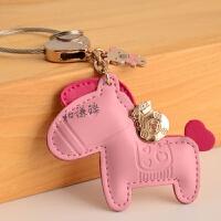 汽车钥匙挂件男女可爱马上有钱钥匙扣卡通创意钥匙链 马上有钱 粉色