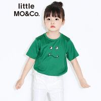 littlemoco男女童胶印小怪兽图案纯棉短袖T恤KT173TEE201