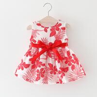 女童连衣裙夏季儿童碎花背心裙子0一1-2-3周岁小童宝宝夏装公主裙