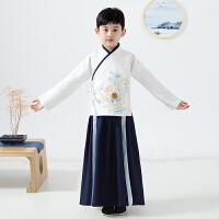 男童汉服古装童唐装儿童中国风国学服男孩套装演出服装秋冬季