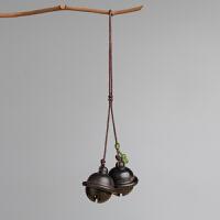 桃木檀木铃铛汽车钥匙扣挂件个性创意男女手机包挂饰品手工钥匙链