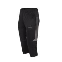 夏季足球训练裤运动裤男七分裤透气弹力中裤跑步健身宽松速干短裤
