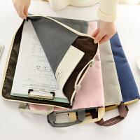 【年货节 回馈价再享8折】乌龟先森 文件袋 简约帆布文件袋学生手提拉链袋 A4资料袋补习包试卷收纳袋