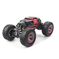 儿童仿真遥控车四驱攀爬360度旋转越野车模型变形车扭变汽车充电电动男孩玩具礼物 红色 UD2170A