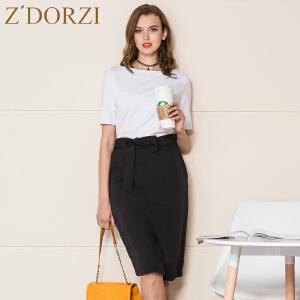 zdorzi卓多姿显瘦短袖上衣女包臀裙两件套装裙632550
