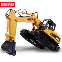 大型儿童遥控挖掘机男孩电动玩具挖土机钩机遥控汽车工程模型玩具