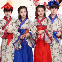 六一儿童演出服古装汉服舞蹈表演服装弟子规三字经男孩女孩