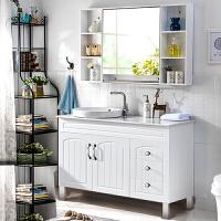 落地式现代简约卫浴柜PVC浴室柜组合洗漱台手脸面盆池卫生间镜柜