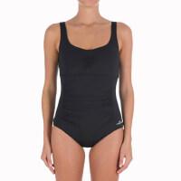 户外运动女士连体泳衣抗氯三角大码保守遮肚显瘦游泳