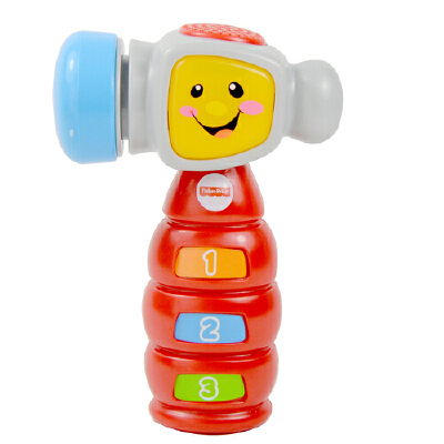 [当当自营]Fisher Price 费雪 敲敲学习小榔头 英语版 婴儿玩具 BFK41【当当自营】适合6个月以上婴幼儿 欢乐学习系列 学习音乐双模式