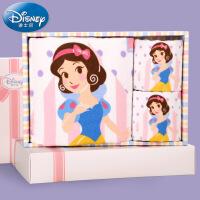 迪士尼Disney公主1浴2纱布童巾礼盒 儿童毛巾浴巾 卡通 礼品礼物