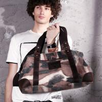 大容量旅行包男士手提包迷彩包休闲帆布包单肩斜跨包 潮 支持礼品卡支付