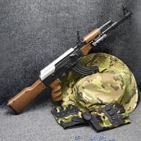 小孩电动连发可发射水晶弹抢手动步枪 儿童玩具枪下供弹ak47水弹枪
