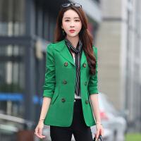 小西装女外套修身显瘦2016春秋外套女中长款韩版大码长袖女士西服