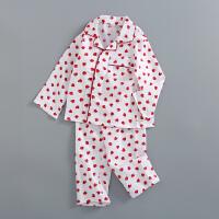 长袖儿童家居服套装 空调服小男生女孩子睡衣