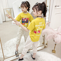 女童套装夏装儿童女孩夏季短袖两件套衣服