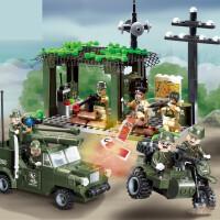 军事拼装组装坦克6模型8益智9岁玩具男孩子生日礼物