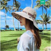 遮阳帽子女韩版百搭双面戴渔夫帽大沿防晒帽遮脸出游沙滩太阳帽